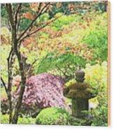 Peaceful Japanese Garden Wood Print