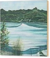 Peaceful Lake Wood Print