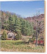 Peaceful Late Autumn Wood Print