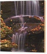 Peaceful Little Falls Wood Print