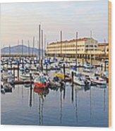 Peaceful Marina Wood Print