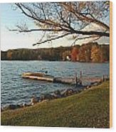 Peaceful Moment on the Lake Wood Print