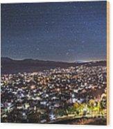 Peaceful Night In Bitola Wood Print