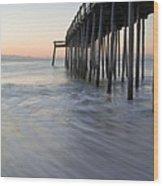 Peaceful Ocean Sunrise Wood Print