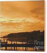 Peaceful Pier Wood Print