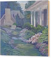 Peaceful Portico Wood Print