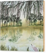Peaceful Reflection Wood Print by Diane Ferron
