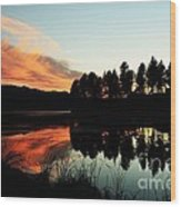 Peaceful Reflections Wood Print