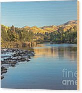 Peaceful River Wood Print by Robert Bales