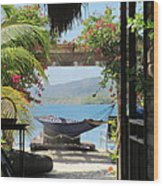 Peaceful Roatan Wood Print