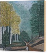 Peaceful Walk Wood Print