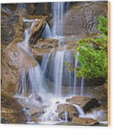 Peaceful Waterfall Wood Print