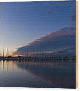 Peaceful Yachts And Sailboats Wood Print