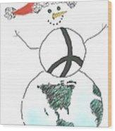 Peacemaker Snowman Wood Print