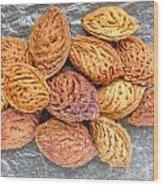 Peach Kernels Wood Print