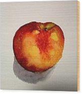 Peach Wood Print