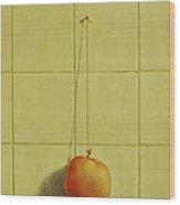 Peach Pendulum Wood Print