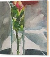 Rose In The Clear Wood Print