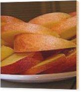 Peach Slices Wood Print