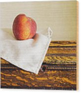 Peach Still Life Wood Print
