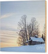 Peacham Sugarhouse Wood Print