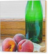 Peaches And Walnuts With Bottle Wood Print