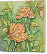 Autumn Roses Wood Print
