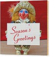 Peaches - Season's Greetings Wood Print