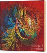 Peacock 3 Wood Print