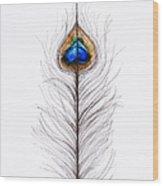 Peacock Abstract Wood Print