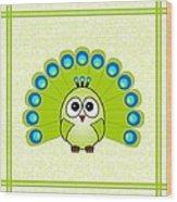 Peacock  - Birds - Art For Kids Wood Print