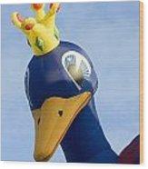Peacock Balloon Wood Print