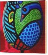 Peacock Egg II  Wood Print