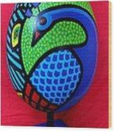Peacock Egg Wood Print