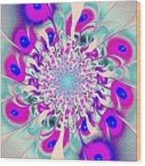 Peacock Flower Wood Print