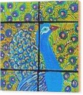 Peacock Ix Wood Print
