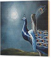 Peacock Princess By Shawna Erback Wood Print