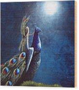 Peacock Princess II By Shawna Erback Wood Print