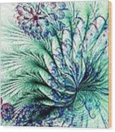 Peacock Tail Wood Print