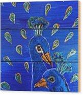 Peacock Vi Wood Print