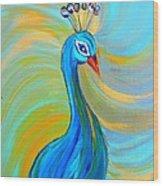 Peacock Vii Wood Print