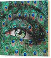 Peacock Wood Print by Yosi Cupano