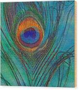 Peacock's Gift 2 Wood Print
