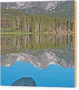 Peak Reflection Wood Print
