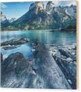 Peaks In Patagonia Wood Print