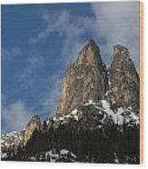 Peaks In The North Cascades Wood Print