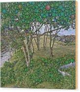 Dawn At Peaks Island Bay Wood Print