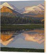 6m6530-a-peaks Reflected Touolumne Meadows  Wood Print