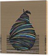 Pear 2003 Tan Wood Print