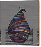 Pear 2005 Grey Wood Print